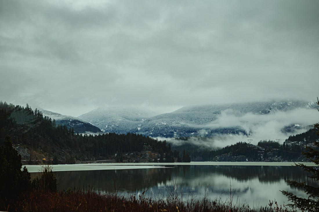 cloudy day in whistler