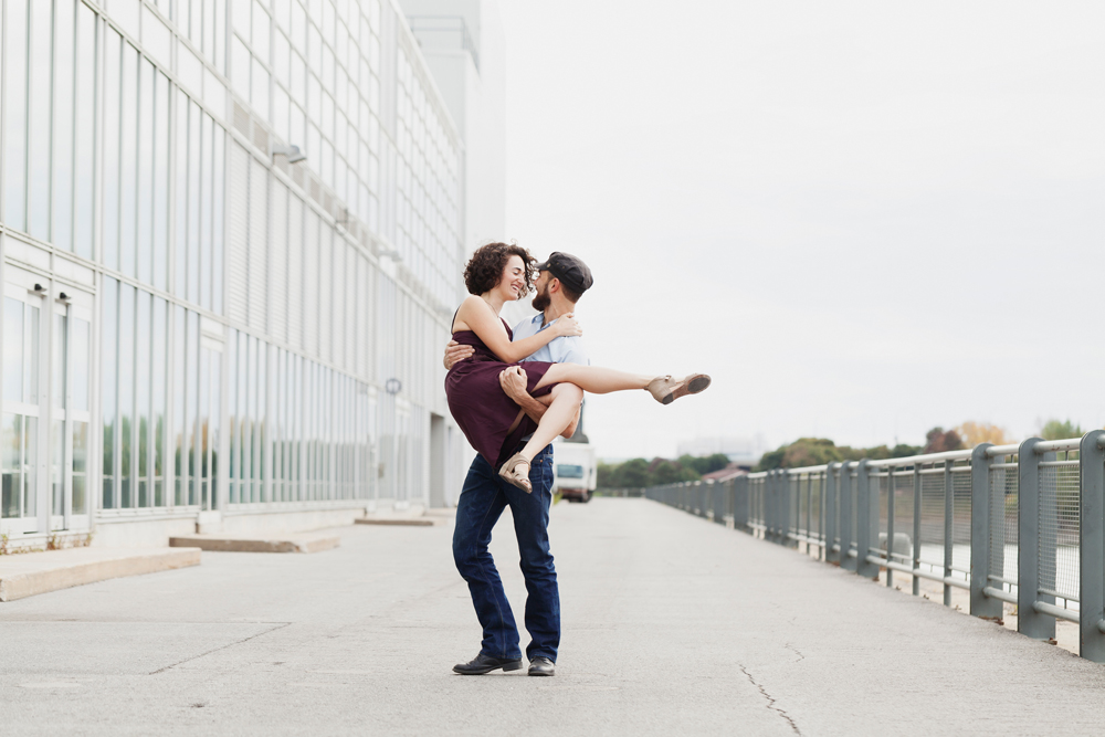 Montreal Old Port Engagement Photography