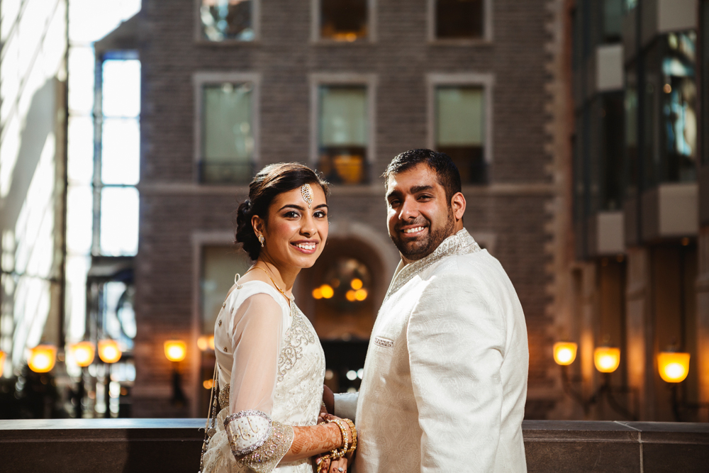 After a islamic indian wedding in the mosque of NDG, the newly weds came to the Montreal World Trade Center to celebrate their wedding.