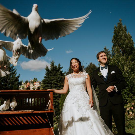 dove-release-bride-groom-chateau-st-antoine
